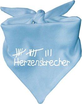 """KLEINER FRATZ – Baby Halstuch """"Herzensbrecher"""" – hellblau"""