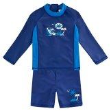 Landora – Baby Junge Badebekleidung langärmlig – blau, 2er Set