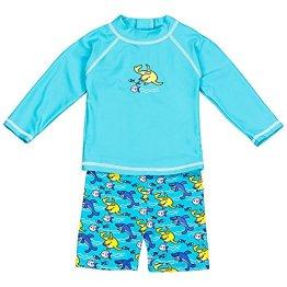 Landora –  Baby Jungen Badebekleidung langärmlig – türkis, 2er Set