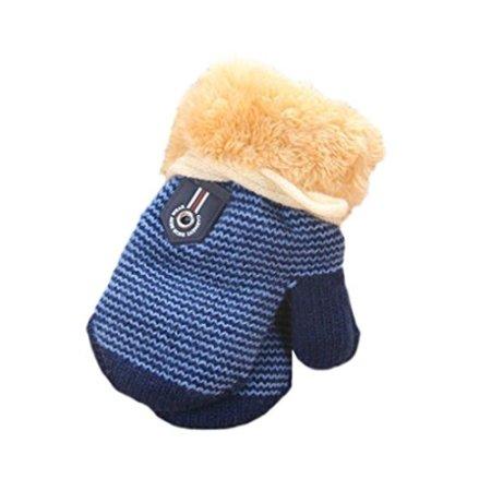 Longra – Baby Handschuhe mit Futter – dunkelblau