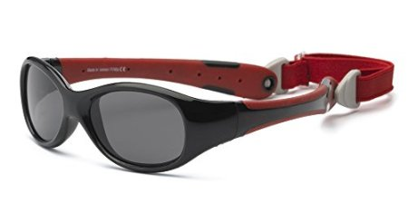 "Real Kids – Baby-Sonnenbrille ""Explorer"" Flexible Passform – rot/schwarz"