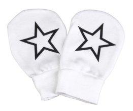 """Spoilt Rotten – Baby Handschuhe """"Stars"""" 100% Biobaumwolle – weiß"""