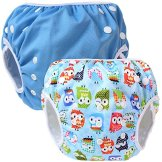 Teamoy – Baby Schwimmwindel – blau, 2er Pack