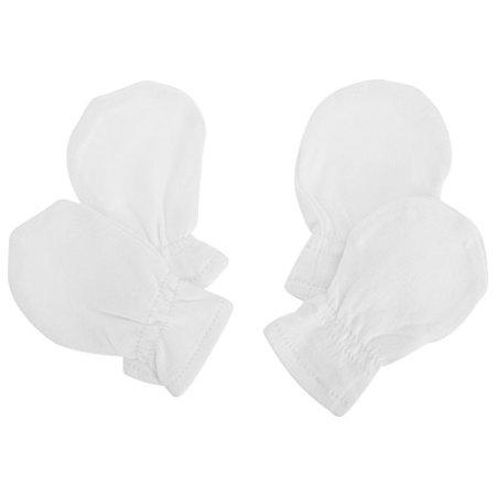 Universal Textiles – Baby Neugeborene Kratzfäustlinge aus Baumwolle – weiß, 2 Paar
