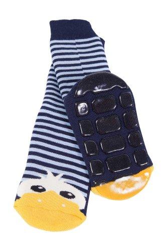 """Weri Spezials – Baby ABS Socken """"Enten Motiv"""" – marine"""