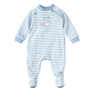 BORNINO – Baby Schlafoverall – hellblau -