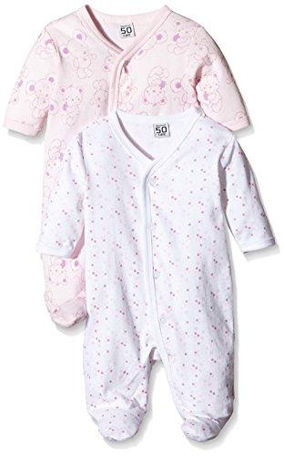 Care – Baby Mädchen Schlafstrampler – rosa, 2er Pack -