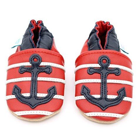 separation shoes bdf52 629c5 Dotty Fish - Leder Babyschuhe mit rutschfester Wildledersohle