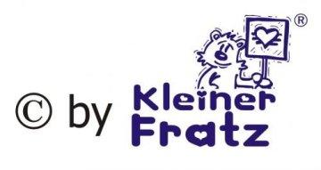 """KLEINER FRATZ – Baby Halstuch """"Alles was ich ansabbere gehört mir"""" – gelb -"""
