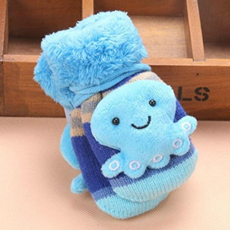 Longra – Baby Fäustlinge – blau -