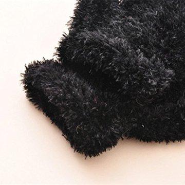 Longra – Baby Strick-Handschuhe aus Baumwolle – schwarz -