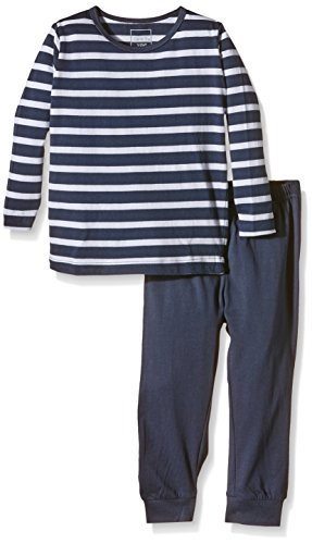 NAME IT – Baby Jungen Schlafanzug – blau/gestreift, 2-teilig -
