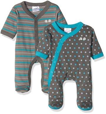 Twins – Baby Jungen Schlafstrampler – blau, 2er-Pack -