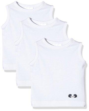 Twins – Unisex Baby Unterhemden – weiß, 3er Pack -