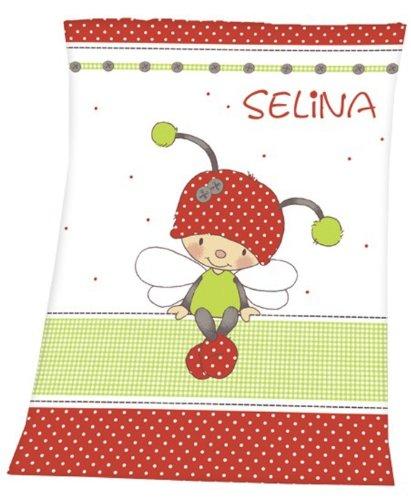 Wolimo – Babydecke mit Namen – Käfer