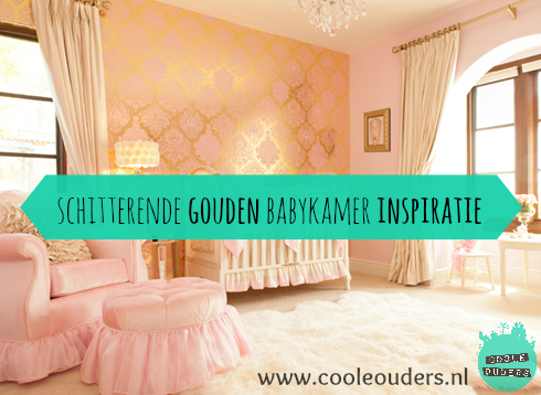 Gouden Accessoires Slaapkamer : Schitterende gouden babykamer inspiratie coole ouders