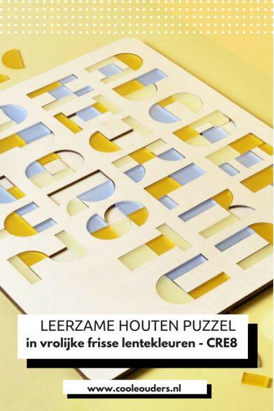 Leerzame houten puzzel van CRE8