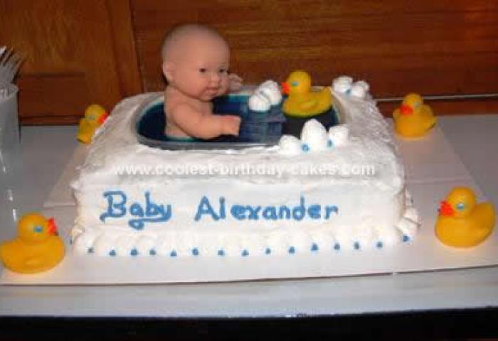 Coolest Baby Shower Bathtub Cake