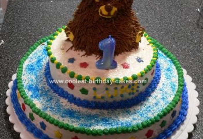 Coolest Beary First Birthday Cake