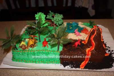 Coolest Dinosaur Scene Cake Design