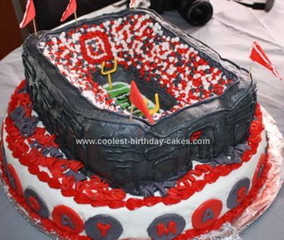 Homemade Osu Horseshoe Birthday Cake