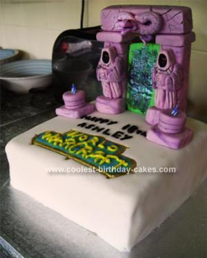 Homemade World Of Warcraft Cake