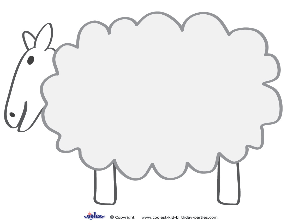 Large Printable Sheep Decoration