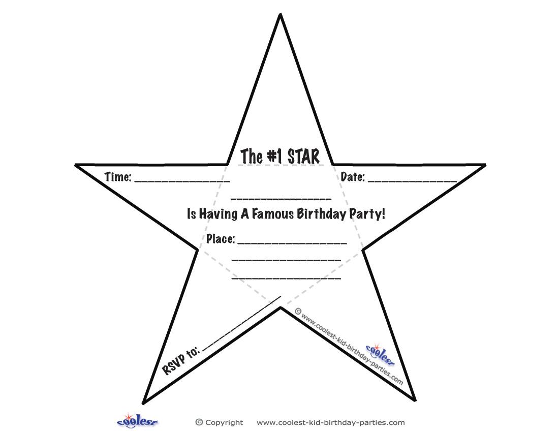 Printable Star Invitations