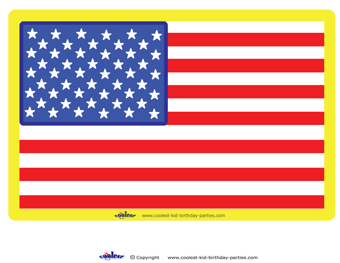 Large Printable Usa Flag Decoration