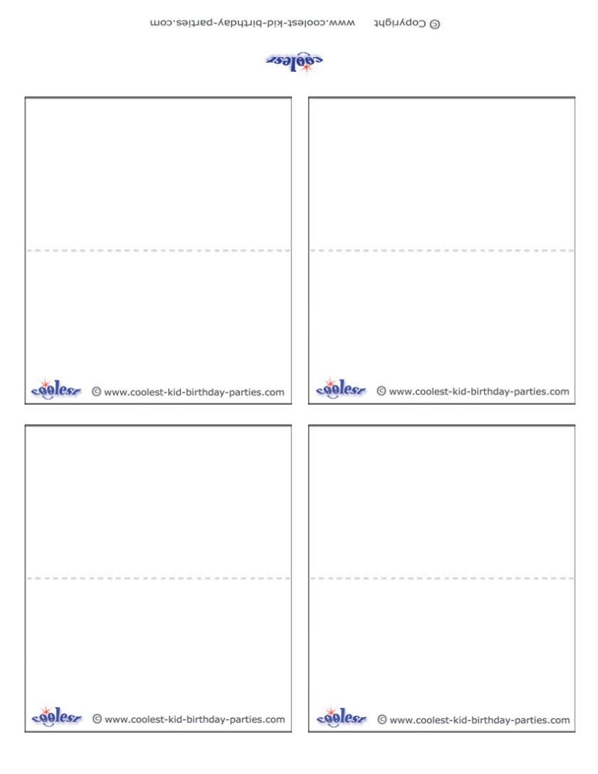 blank place card template word