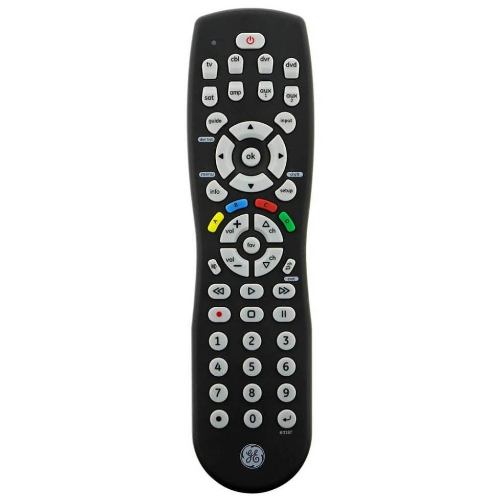 GE 8-Device Universal Remote front