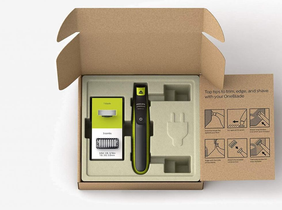 Philips Norelco OneBlade Trimmer packaging