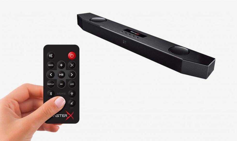 Entertainment Soundbar and remote