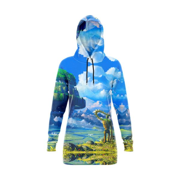 Fortress in the Clouds Hoodie Dress
