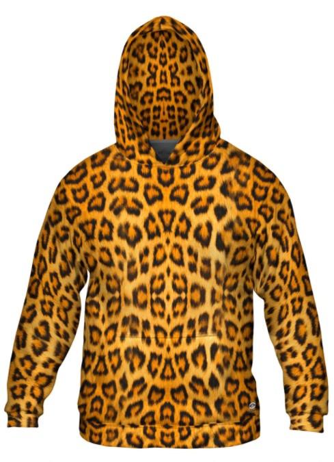 Leopard skin hoodie for men