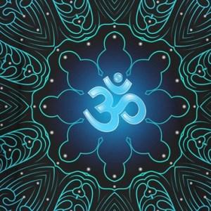 Blue Divine Om Hoodie