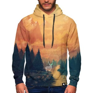 Orange Mountain Buck Hoodie Design