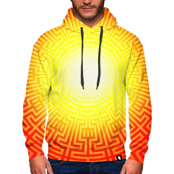 Yellow & Orange burst hoodie