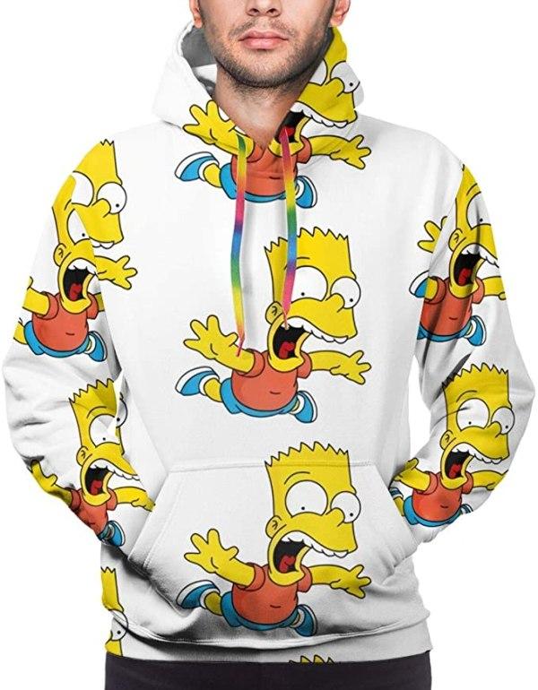Bart Simpson Hoodie in White