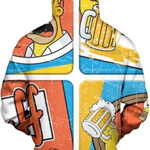 Homer Simpson Duff Beer Hoodie Design