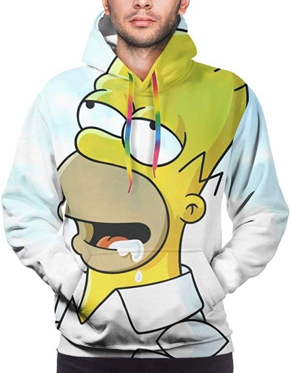 Homer Simpson Hoodie in White