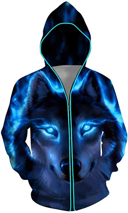 Light Up Wolf Hoodie