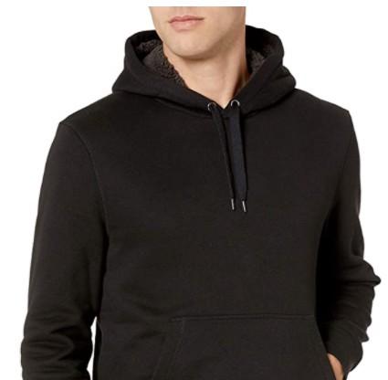 Mens Black Hoodie with fur lining