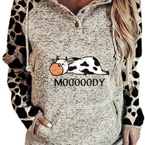 Moody Cow Hoodie