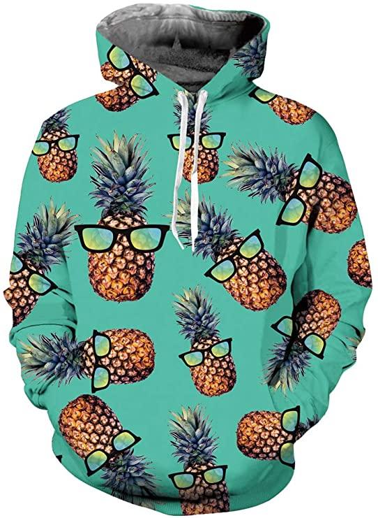 Pineapple Hoodie in Light Green