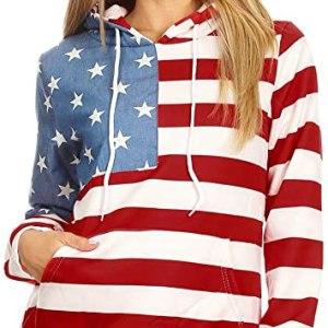 Womens USA Flag Hoodie
