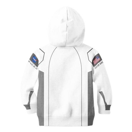 Kids White NASA Hoodie