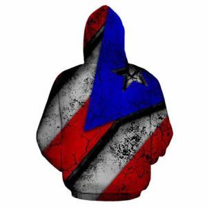 Puerto Rican Flag Hoodies