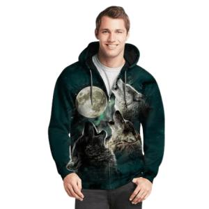 Wolf Zip-Up Hoodie