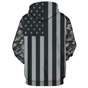 Grey Camo Flag Hoodie